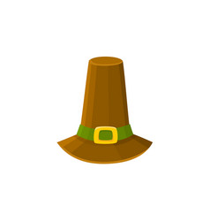 comic style pilgrim hat thanksgiving day symbol vector image