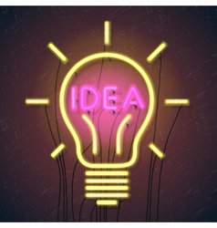Concept of successful idea inspired by bulb shape vector