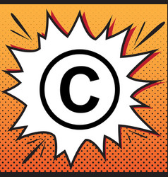 Copyright sign comics style vector