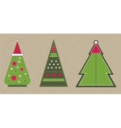 Cristmas spruce in red hat Stickers with vector
