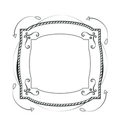 decorative frame hand draw vector image