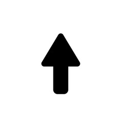 direction arrow up icon isolated black on white vector image
