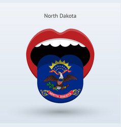 electoral vote of north dakota abstract mouth vector image