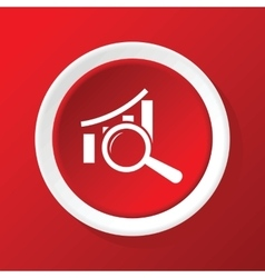 Examine graphic icon on red vector
