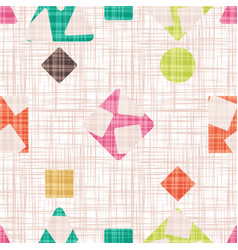 fabric with geometric shapes vector image