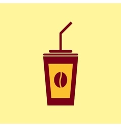 Fast food icon Coffee pictogram vector image