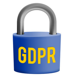 gdpr - general data protection regulation symbol vector image