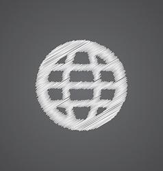 Globe sketch logo doodle icon vector