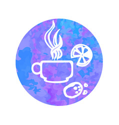 hand drawn icon cap tea vector image