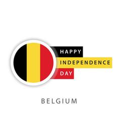 Happy belgium independence day template design vector