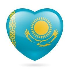 Heart icon of Kazakhstan vector