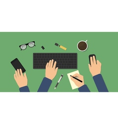 Hectic business workspace vector image