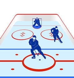 Ice hockey vector