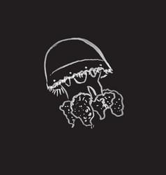 Jellifish hand drawn vector