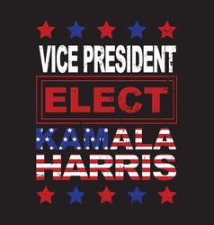 Kamala harris vice president elect united states vector
