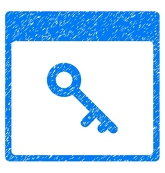 Key Calendar Page Grainy Texture Icon vector image