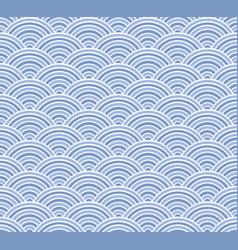 Light blue seigaiha japanese wave patter vector