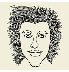 Lines art design of man vector