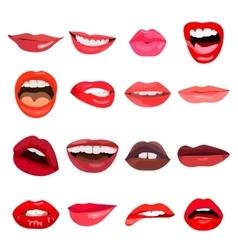 Lips set lip design element vector