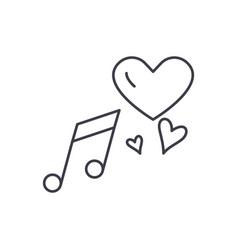 love music line icon concept love music vector image