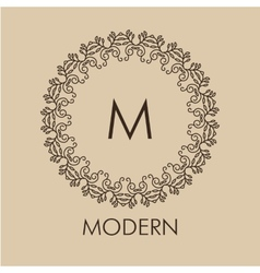 Luxurysimple and elegant monochrome monogram vector image