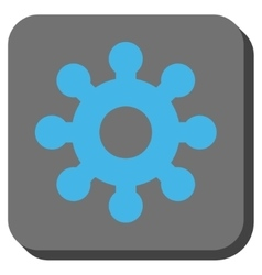 Mechanics Gear Rounded Square Button vector