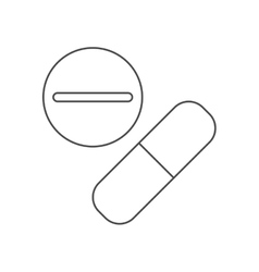 Medicine pills of medical care design vector