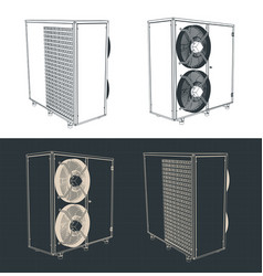 Outdoor unit of air conditioner vector
