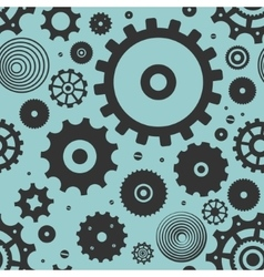 Pattern Gears vector image