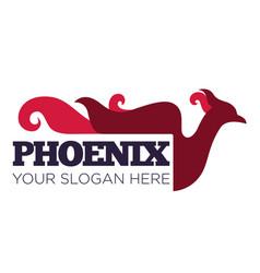 phoenix bird or fantasy eagle logo template vector image
