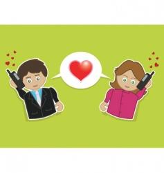 Phone love vector