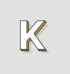 pop art logo letter k vector image