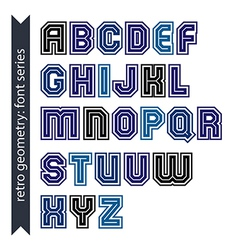 Regular stylish font with straight lines only vector