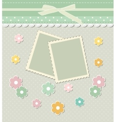 Romantic scrap booking template for invitation vector