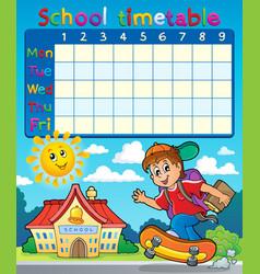 School timetable composition 7 vector