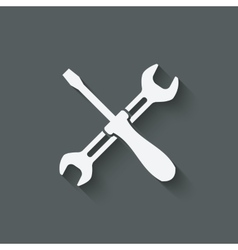 Screw driver and wrench symbol vector