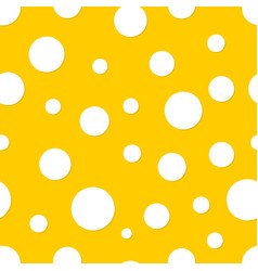 seamless polka dot yellow background vector image