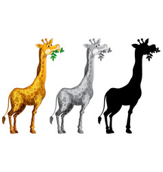 set of giraffe character vector image