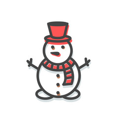 snowman small icon christmas vector image