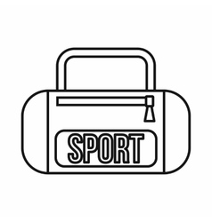 Sports bag icon outline style vector image