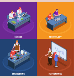 Stem education design concept vector