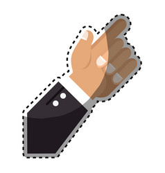 sticker hand with finger pointing up vector image