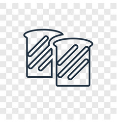 toast concept linear icon isolated on transparent vector image