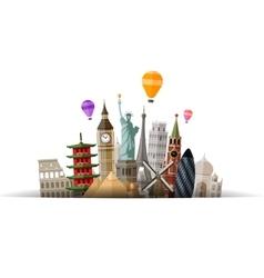 travel logo journey tour trip icon vector image