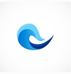 wave water ocean logo vector image