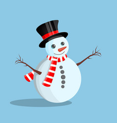 white christmas snowman vector image