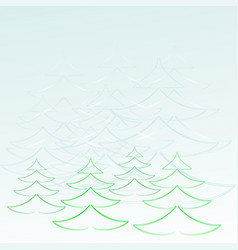 Winter forest morning vector
