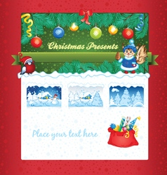 Christmas gift shop template vector image