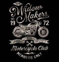 Hand painted vintage motorcycle graphic vector