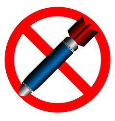 stop bombing vector image
